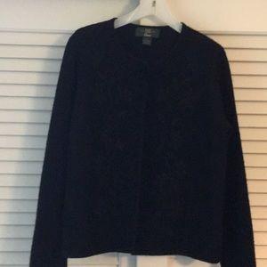 Vintage Black Orvis Boiled Wool Dressy Jacket